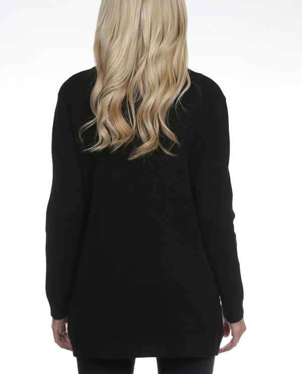 Anna Sweater With Detachable Snood Black - MSC The Store