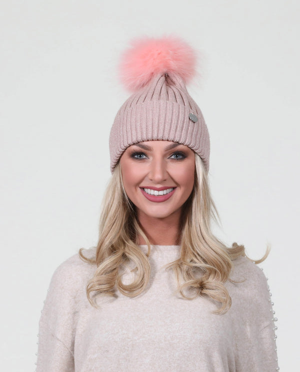 Sparkle Angora Pom  in soft pink- MSC The Store