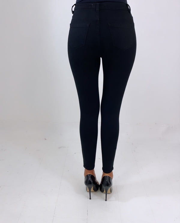 Push Up Black Jeans
