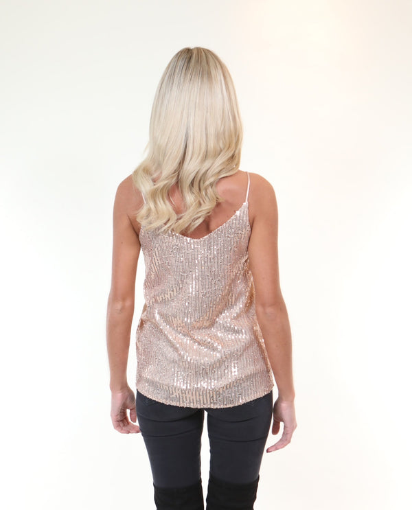 Sequin Camisole Rose Gold - MSC The Store