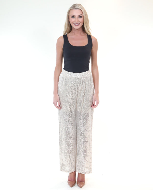 Sequin Serena Trouser - MSC The Store