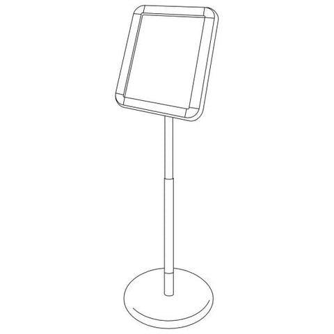 Chrome Floor Stand
