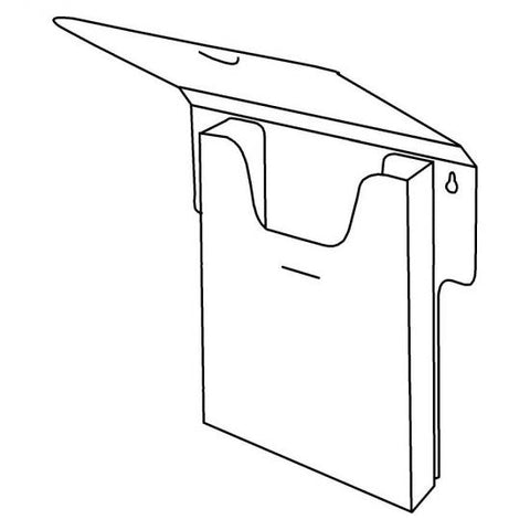 Disposable Brochure Holder with Lid