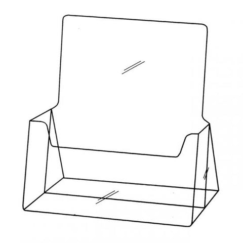Single Compartment A4 Portrait Brochure Holder
