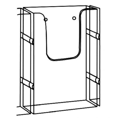 Wall Mountable Single DLE Portrait Brochure Holder With Link