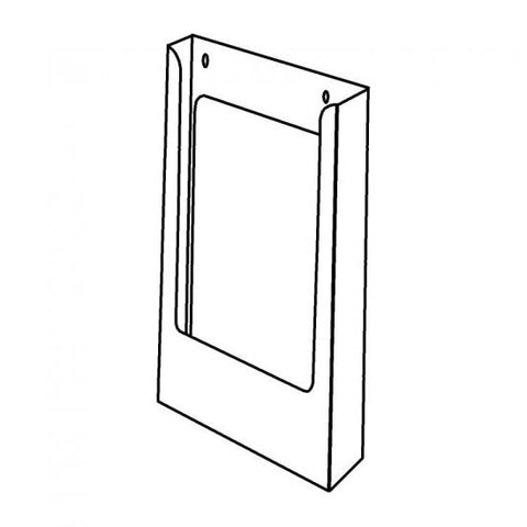 Portrait DLE Brochure Holder Without Clips