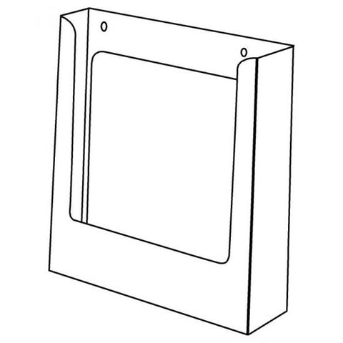 Portrait A4 Brochure Holder Without Clips