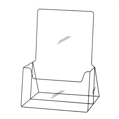 Single Compartment A5 Portrait Brochure Holder