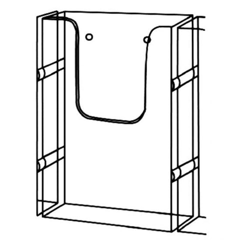 Wall mountable Single A5 Portrait Brochure Holder With Link