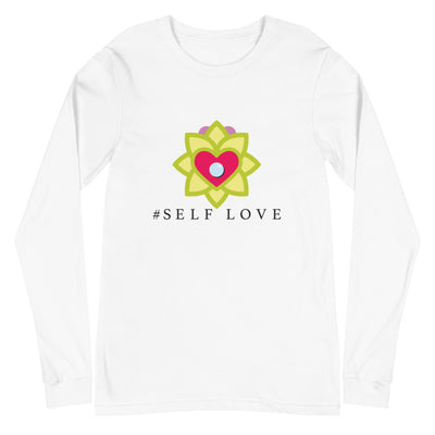 Men's Long Sleeve T-Shirt: #Self Love (White or Grey)