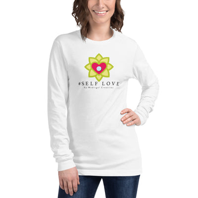 Women's Long Sleeve T-Shirt: #Self Love (White)