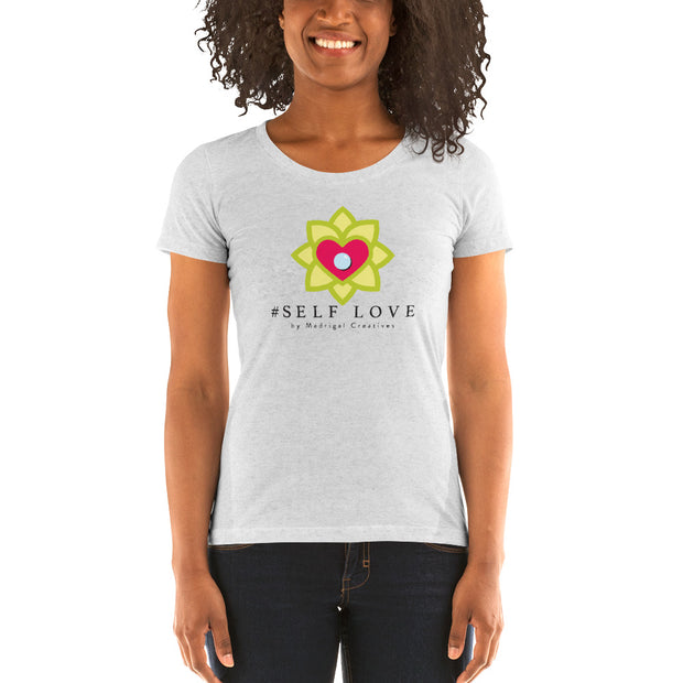 Women's Short Sleeve T-Shirt: #Self Love (White)