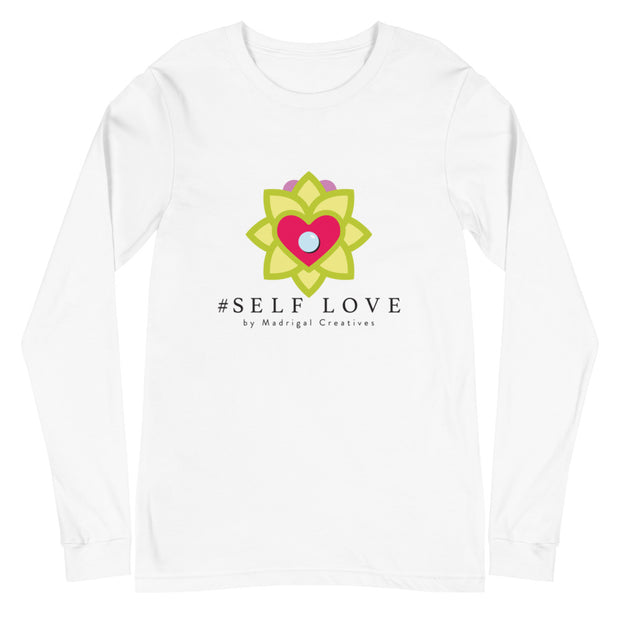 T-Shirt Men's Long Sleeve: #Self Love (White or Grey)
