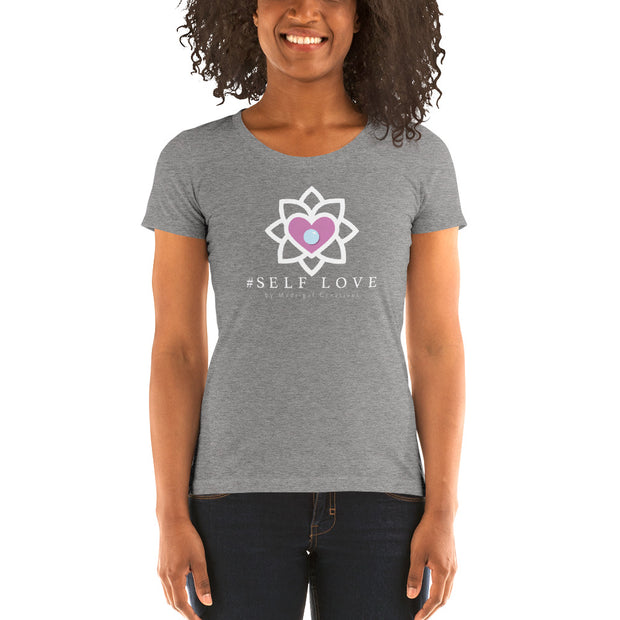 Women's Short Sleeve T-Shirt: #Self Love (Grey)