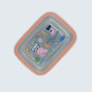 Youp stainless steel peach color Peppa Pig kids lunch box PPL8015 - 600 ml, Peach