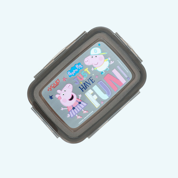 Youp stainless steel black color Peppa Pig kids lunch box PPL8016 - 1000 ml, Peach