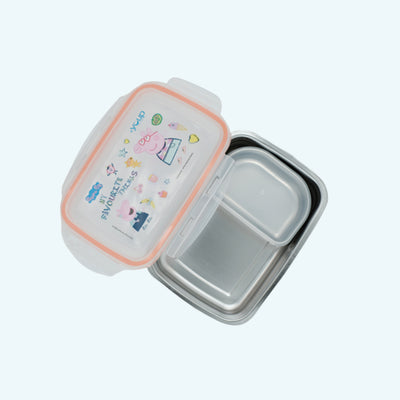 Youp stainless steel peach color Peppa Pig kids lunch box PPL8016 - 1000 ml