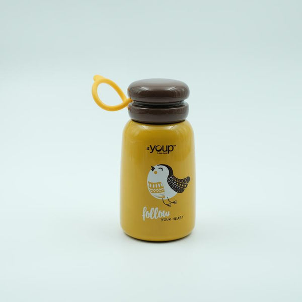 Youp Stainless steel yellow color kids water bottle YP302 - 300 ml