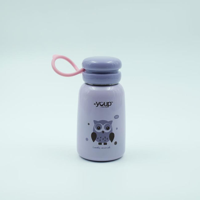 Youp Stainless steel purple color kids water bottle YP302 - 300 ml