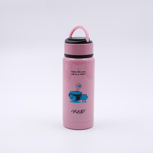 Youp Thermosteel pink color kids water bottle YP261 - 260 ml