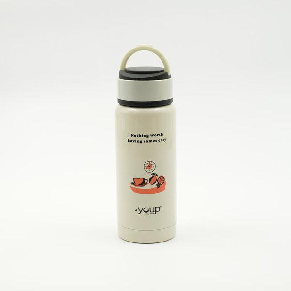 Youp Thermosteel soft yellow color kids water bottle YP261 - 260 ml