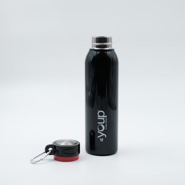 Youp Thermosteel black color water bottle YP503 - 500 ml