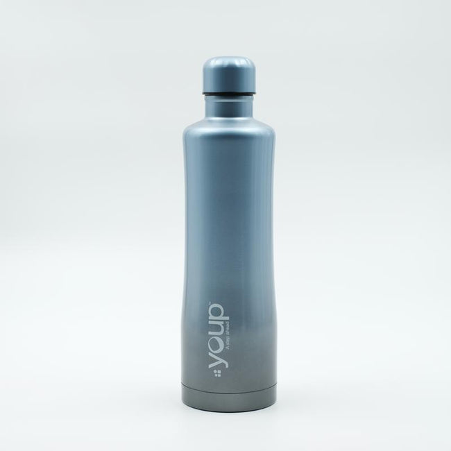 Youp Thermosteel blue and grey color water bottle with top handle YP754 - 750 ml