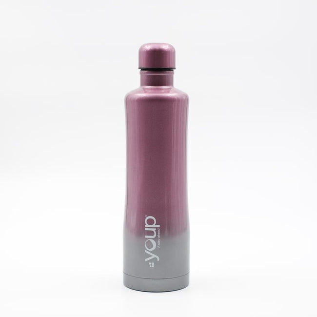 Youp Thermosteel pink and grey color water bottle YP754 - 750 ml