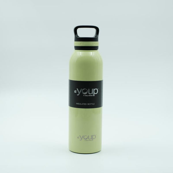 Youp Thermosteel lime green color water bottle with top handle YP751 - 750 ml