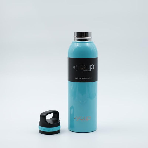 Youp Thermosteel sky blue color water bottle with top handle YP751 - 750 ml