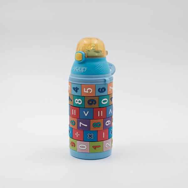 Youp Stainless steel blue color kids sipper bottle YP402 - 400 ml