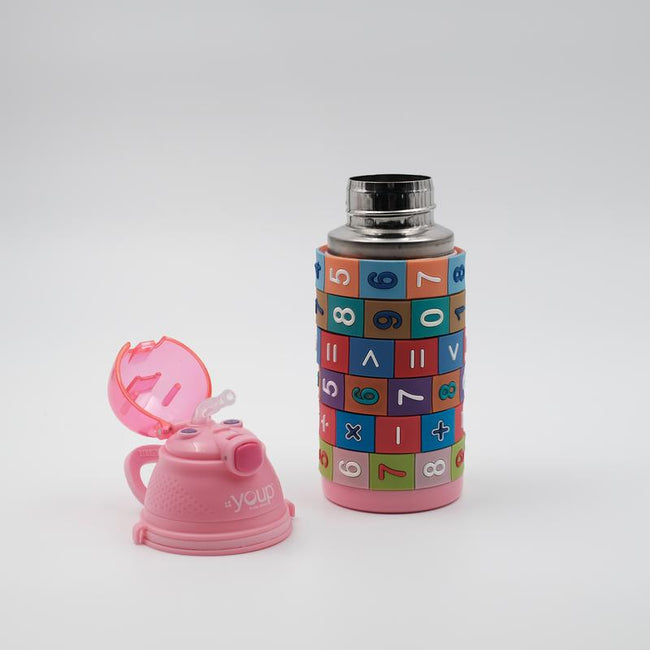 Youp Stainless steel pink color kids sipper bottle YP402 - 400 ml