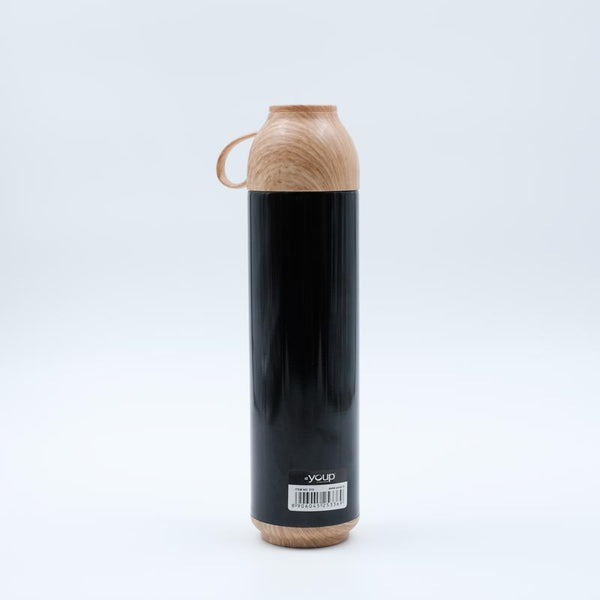 Youp Thermosteel black color water bottle with handle containing cup cap YP515 - 500 ml