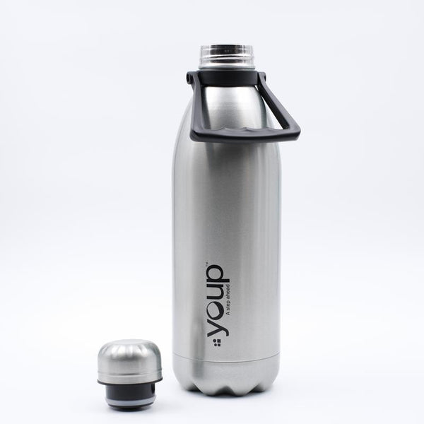 Youp Thermosteel silver color Bottle with top handle YP1501 - 1500 ml