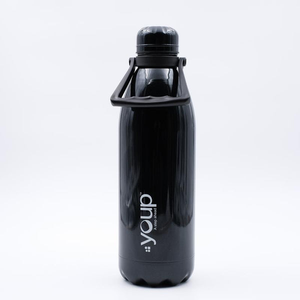 Youp Thermosteel black color Bottle with top handle YP1501 - 1500 ml