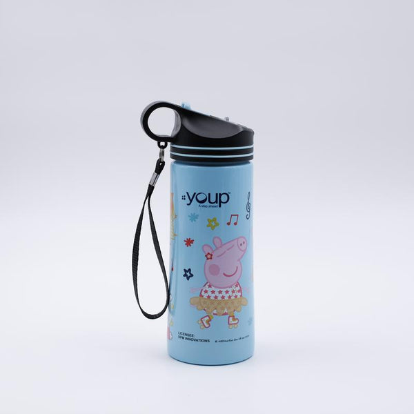 Youp Stainless steel blue color Peppa Pig kids sipper water bottle PPS7500 - 750 ml