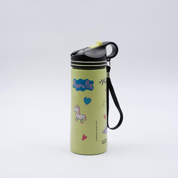 Youp Stainless steel green color Peppa Pig kids sipper water bottle PPS7500 - 750 ml