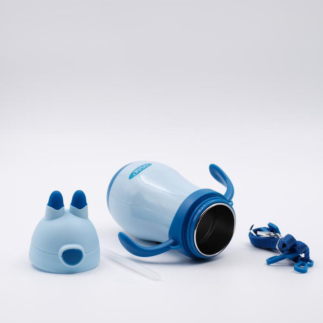 Youp Stainless steel blue color kids sipper bottle YP262 - 260 ml