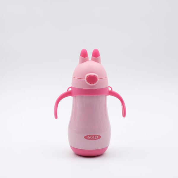 Youp Stainless steel pink color kids sipper bottle YP262 - 260 ml