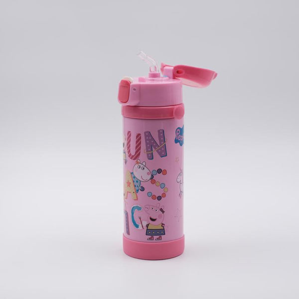 Youp Stainless steel pink color Peppa Pig kids sipper bottle PP517 - 500 ml