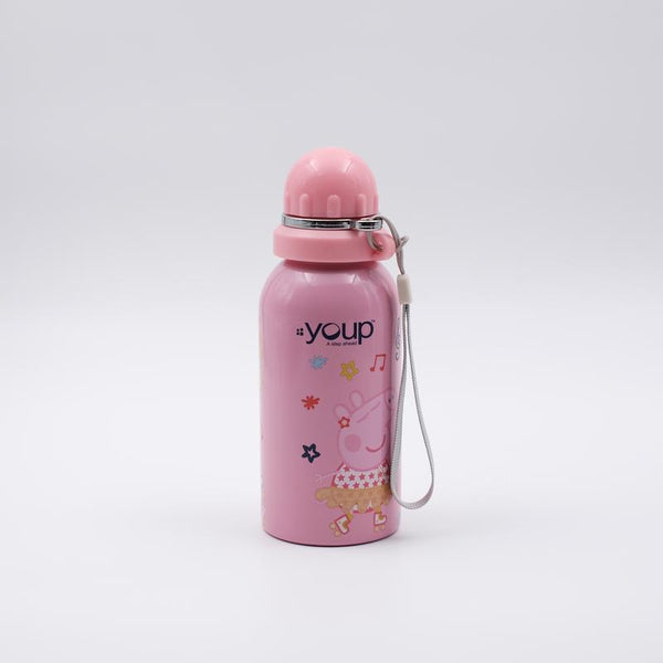 Youp Stainless steel pink color Peppa Pig kids sipper water bottle PPS5000 - 500 ml