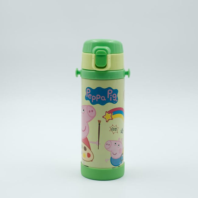 Youp Stainless steel green color Peppa Pig kids sipper bottle PP517 - 500 ml