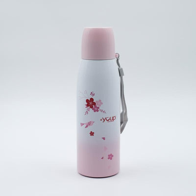 Youp Thermosteel pink color water bottle with cup cap YP513 - 500 ml