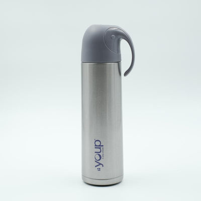 Youp Thermosteel silver color water bottle with handle containing cup cap YP512 - 500 ml