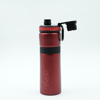 Youp Thermosteel red color sports series sipper bottle YPS7508 - 750 ml