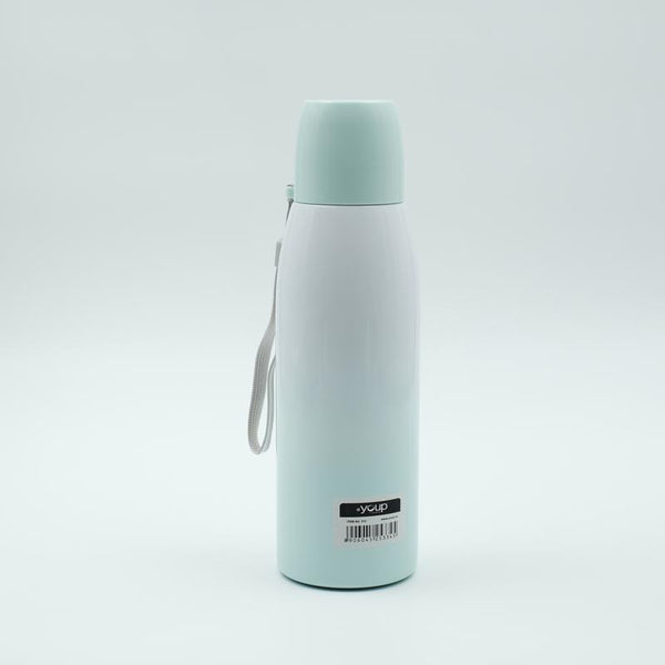 Youp Thermosteel sea green color water bottle with cup cap YP513 - 500 ml