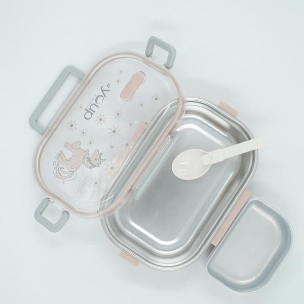 Youp stainless steel pink color kids lunch box YPL8011 - 700 ml