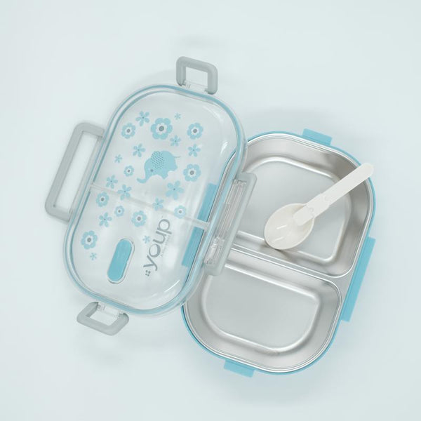 Youp stainless steel blue color kids lunch box YPL8010 - 700 ml