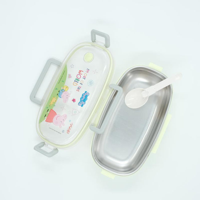Youp stainless steel mint green color Peppa Pig kids lunch box PPL8017 - 650 ml