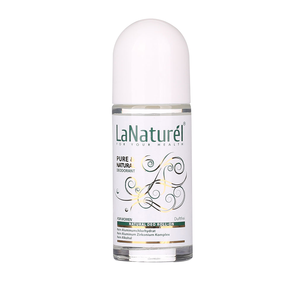 LaNaturel Roll-On Deodorant Woman Fragrance free 50ml (halal/vegan)